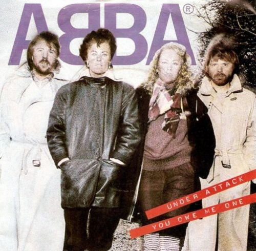 ABBA Under Attack Vinyl Record 7 Inch Epic 1982